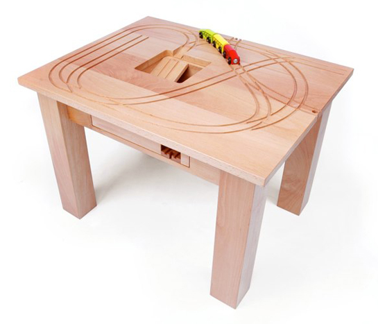 La Treintafel - Table pour train - Design: Tomm Velthuis