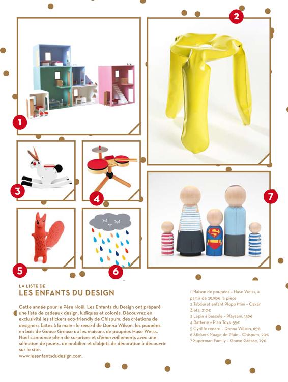 Notre liste de cadeaux design pour le p re no l doolittle for Les enfants design