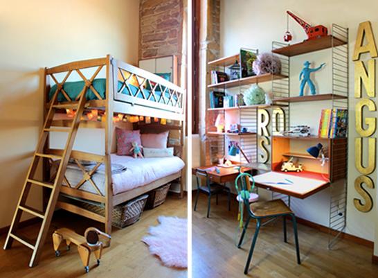 La chambre de rose et angus par sandie de fresh vintage for Chambre retro design