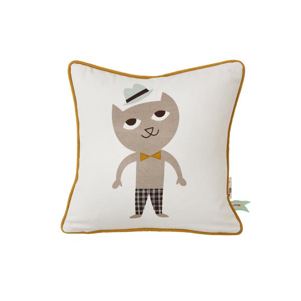 coussin chat ferm living pour chambre enfant les enfants. Black Bedroom Furniture Sets. Home Design Ideas