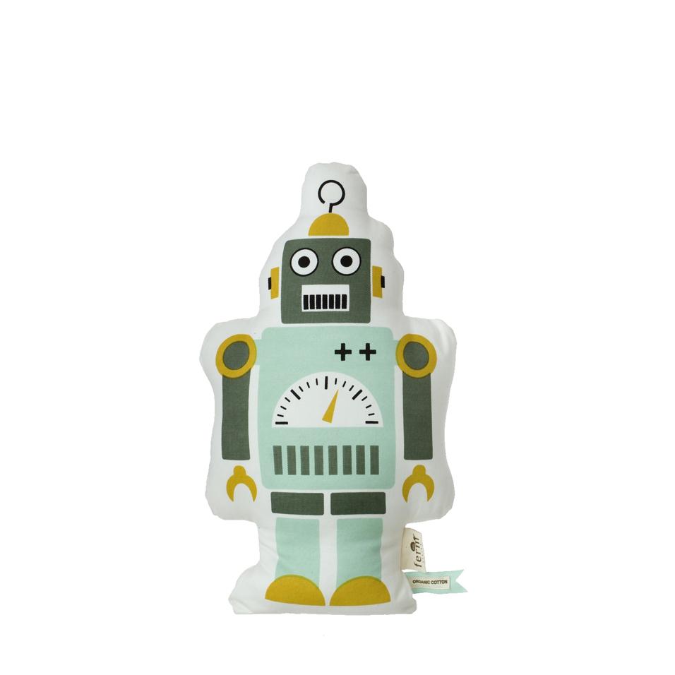 Coussin petit mr robot ferm living pour chambre enfant for Decoration chambre robot