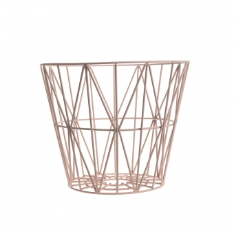 panier de rangement wire basket rose ferm living pour chambre enfant les enfants du design. Black Bedroom Furniture Sets. Home Design Ideas