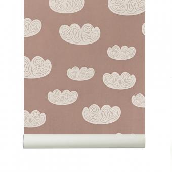 papier peint nuage vieux rose ferm living pour chambre enfant les enfants du design. Black Bedroom Furniture Sets. Home Design Ideas