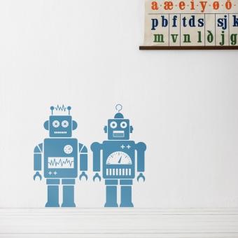 Stickers robots bleu ferm living pour chambre enfant for Decoration chambre robot