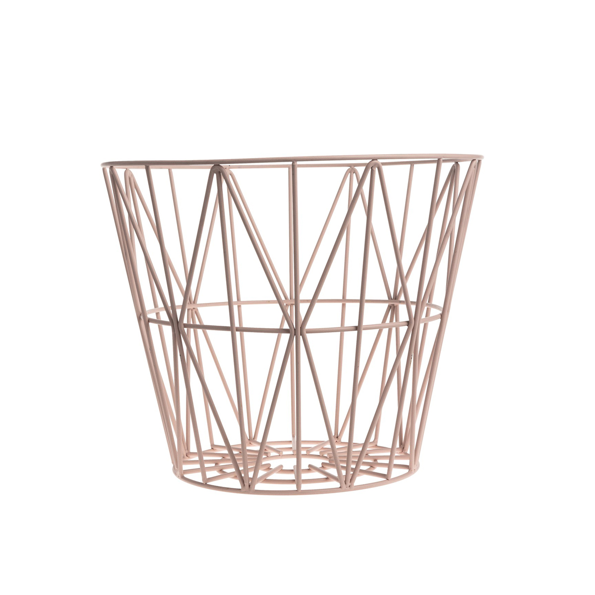 panier de rangement wire basket rose ferm living pour. Black Bedroom Furniture Sets. Home Design Ideas