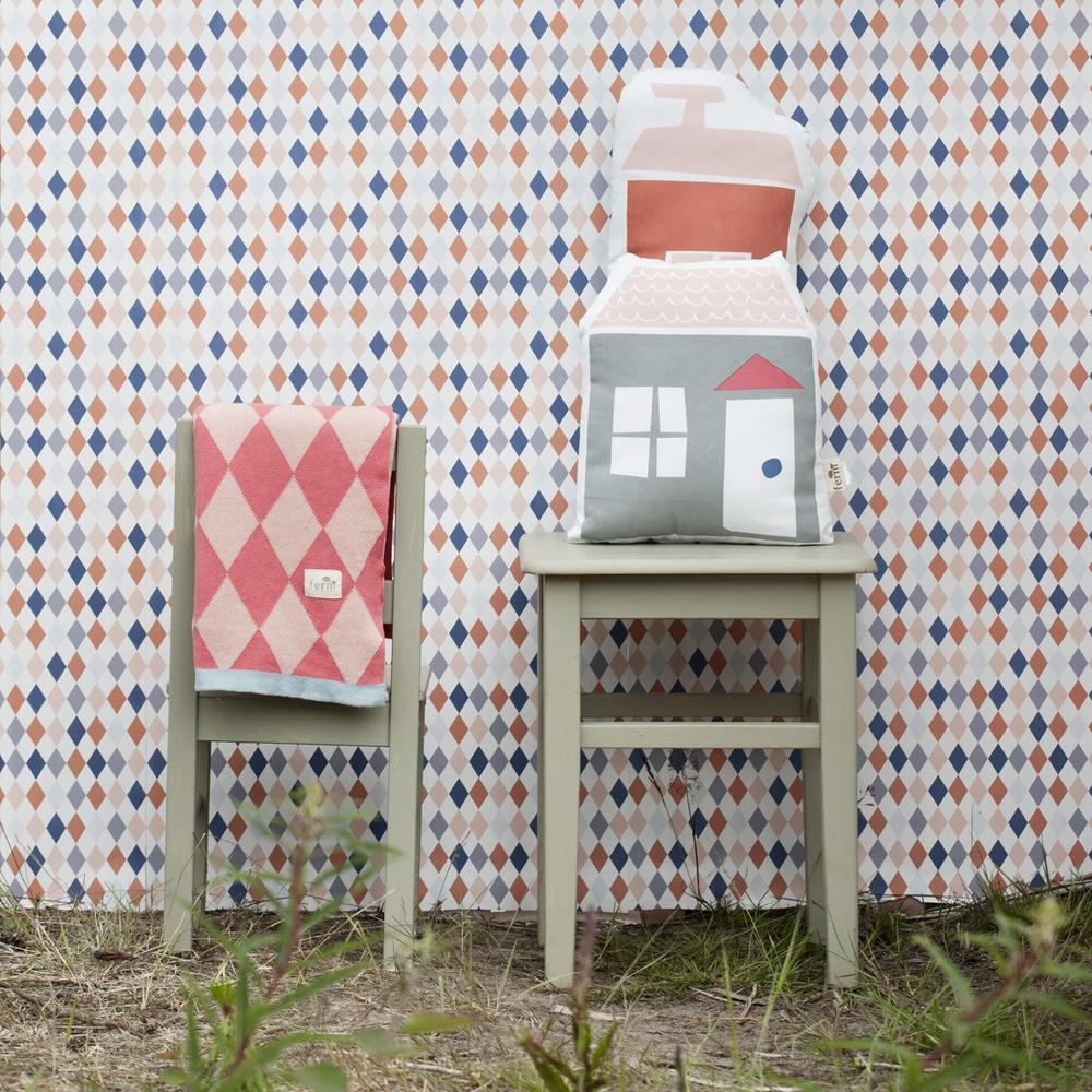 papier peint happy harlequin ferm living pour chambre enfant les enfants du design