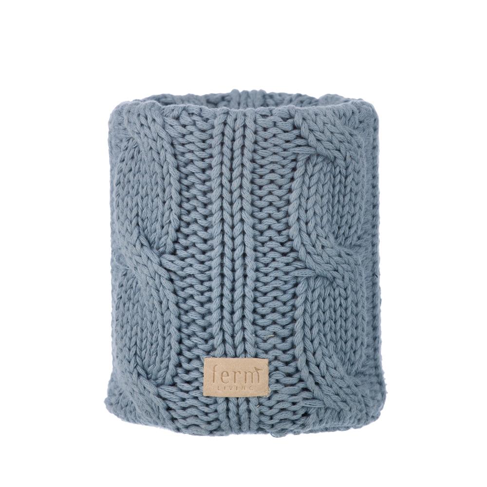 pot crayons en tricot torsad bleu ferm living pour. Black Bedroom Furniture Sets. Home Design Ideas