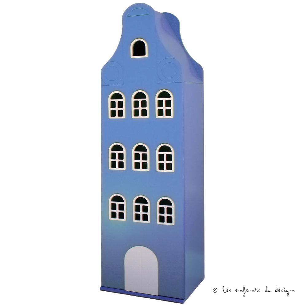 Armoire Amsterdam Classique Bleu Ciel Kast Van Een Huis