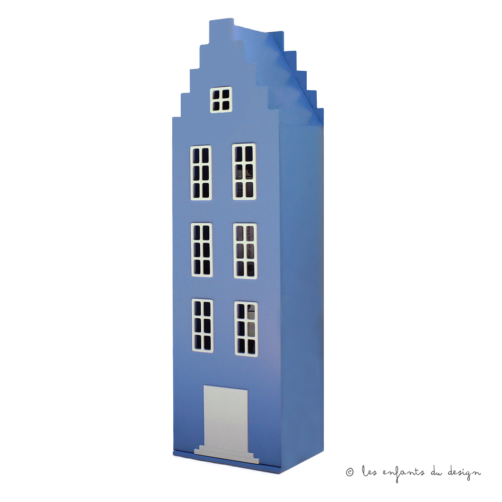 Armoire Maison Amsterdam Escalier Bleu Ciel Kast Van Een