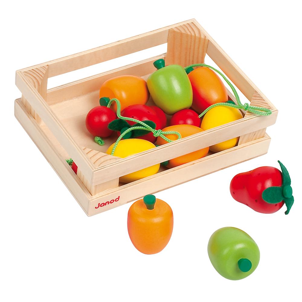 cagette de 12 fruits janod pour chambre enfant les. Black Bedroom Furniture Sets. Home Design Ideas