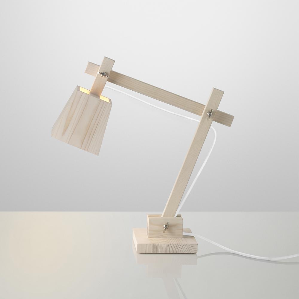 Lampe de bureau wood fil blanc muuto pour chambre enfant - Lampe bureau bois ...