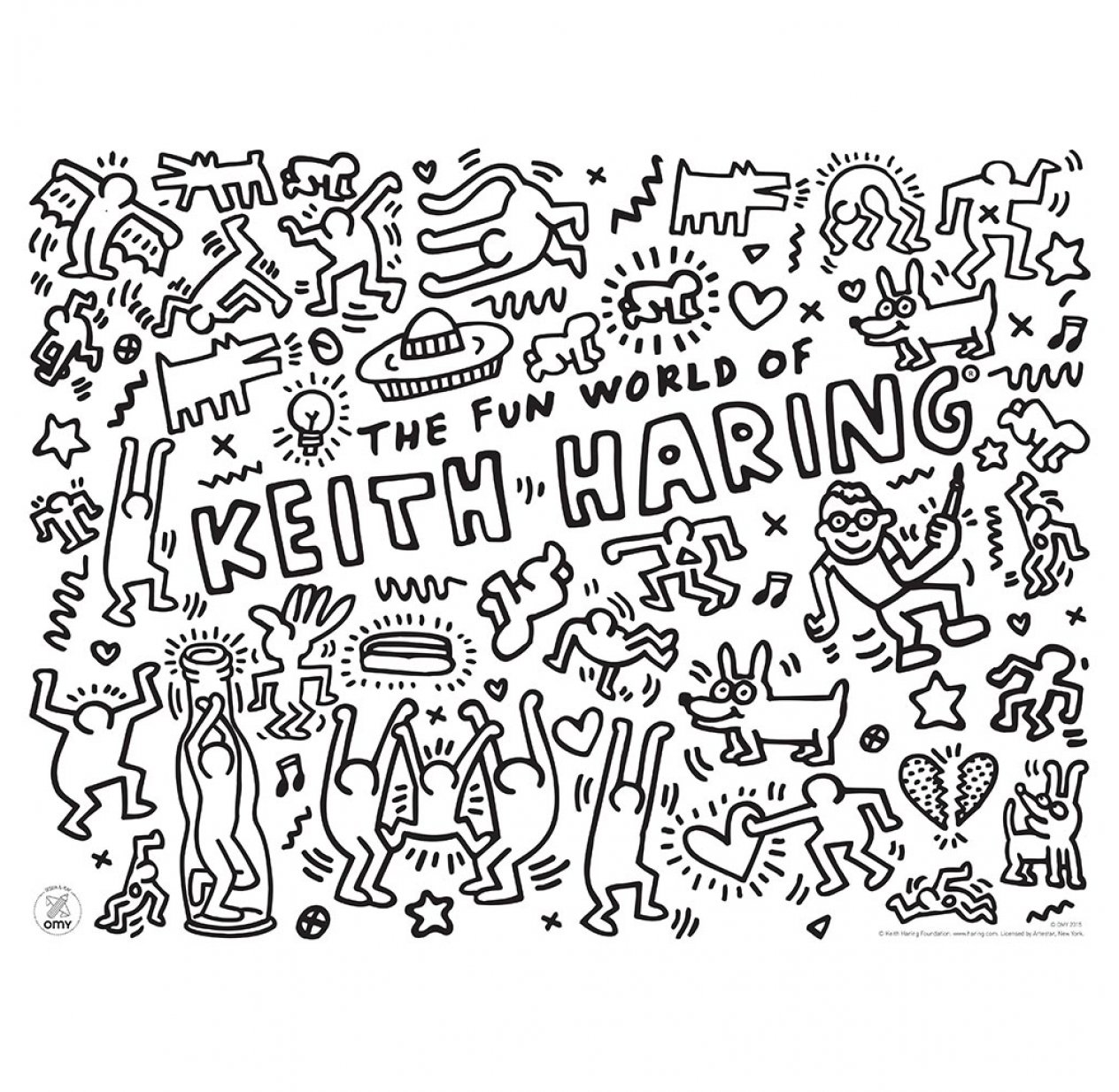 Keith Haring Sets De Table A Colorier Omy Design And Play Pour Chambre Enfant Les Enfants Du Design