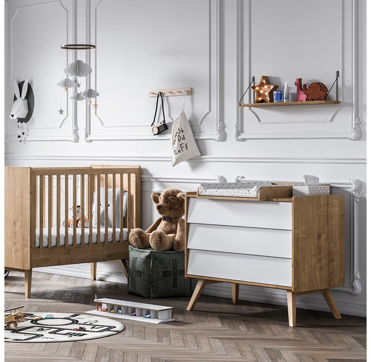 Lit Bébé évolutif 70 X 140 Vintage   Chêne Vox Pour Chambre Enfant   Les  Enfants Du Design