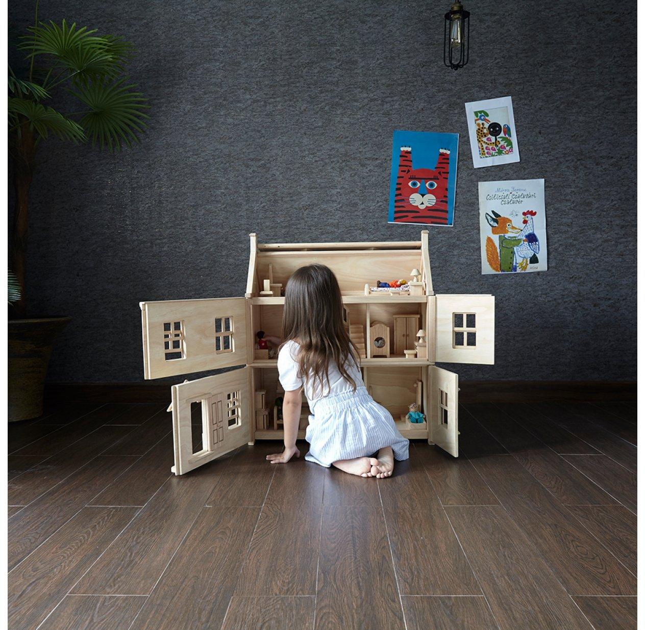 Á… Maison De Poupee Victorienne Plan Toys Les Enfants Du Design