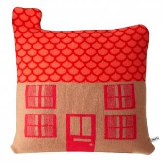 Coussin Maison, orange