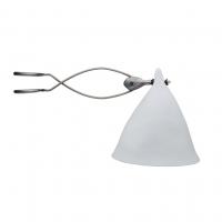 Lampe Cornette à pincer - Porcelaine blanche mate