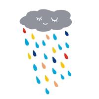 Stickers Nuage de pluie