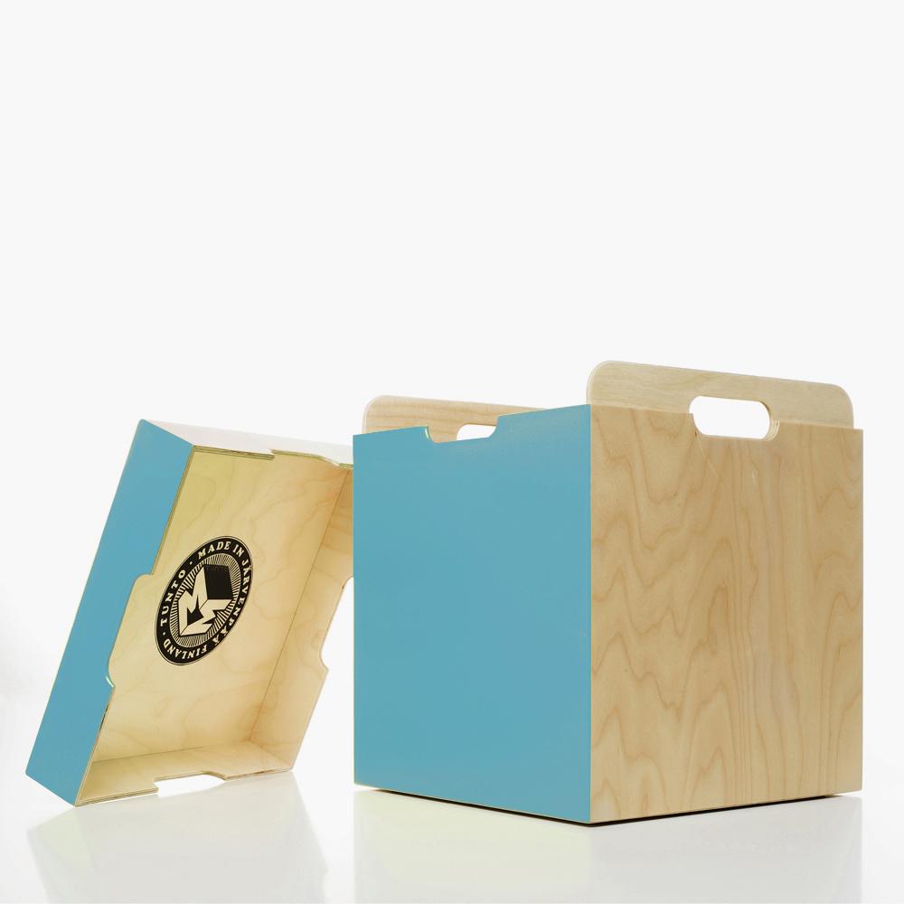 coffre de rangement et tabouret m3 box turquoise tunto pour chambre enfant les enfants du design. Black Bedroom Furniture Sets. Home Design Ideas