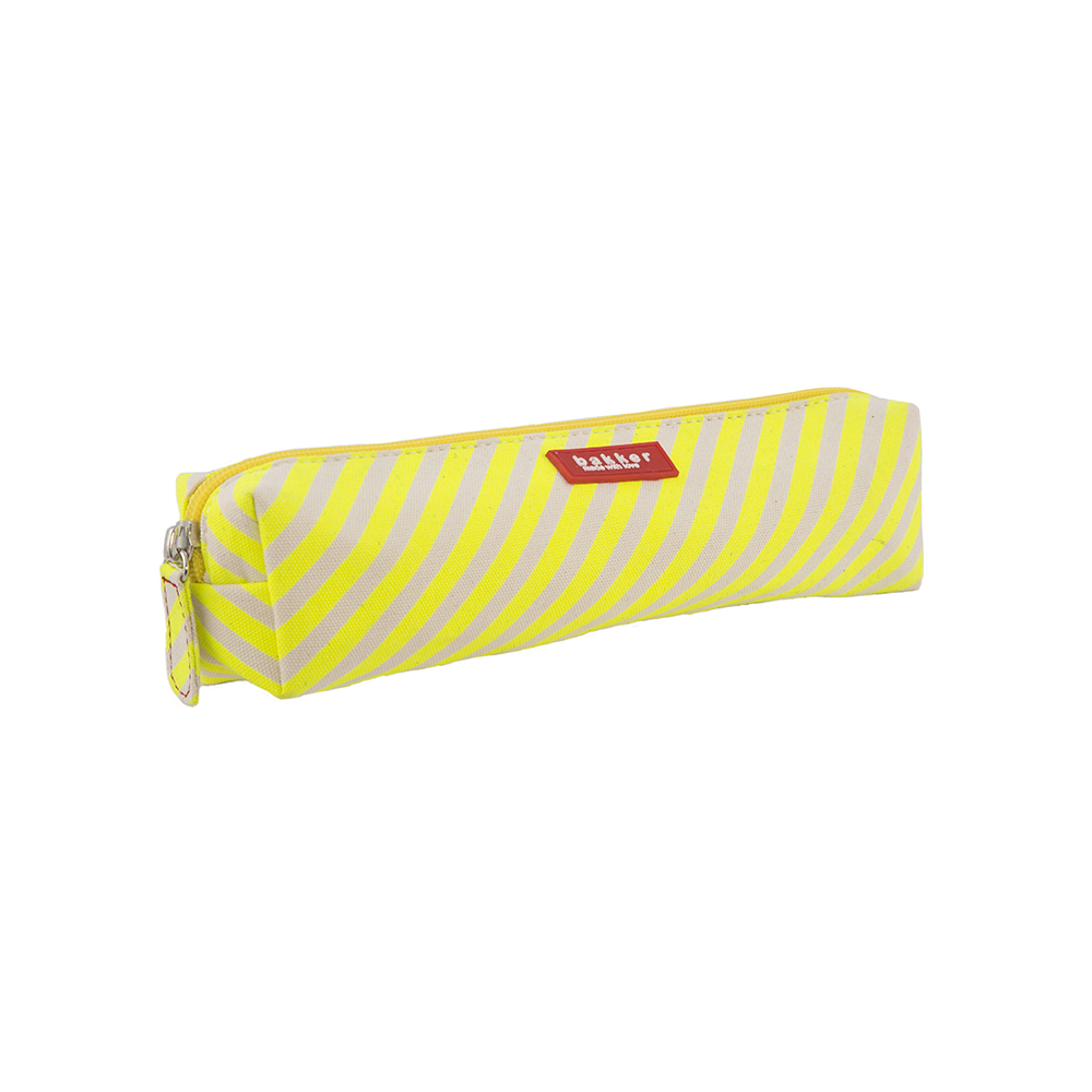 Trousse Fluo Stripes - Jaune Fluo Bakker Made With Love pour ...
