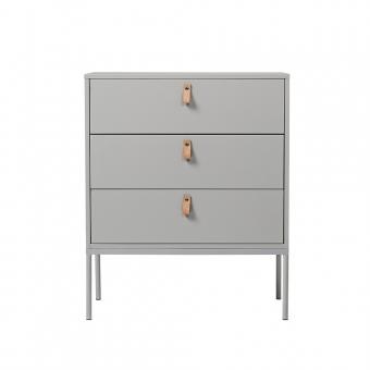 commode cute 3 tiroirs gris clair bloomingville pour chambre enfant les enfants du design. Black Bedroom Furniture Sets. Home Design Ideas