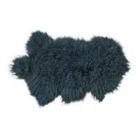 Peau d'agneau de Mongolie - Bleu canard