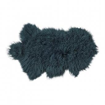 peau d 39 agneau de mongolie bleu canard bloomingville pour chambre enfant les enfants du design. Black Bedroom Furniture Sets. Home Design Ideas