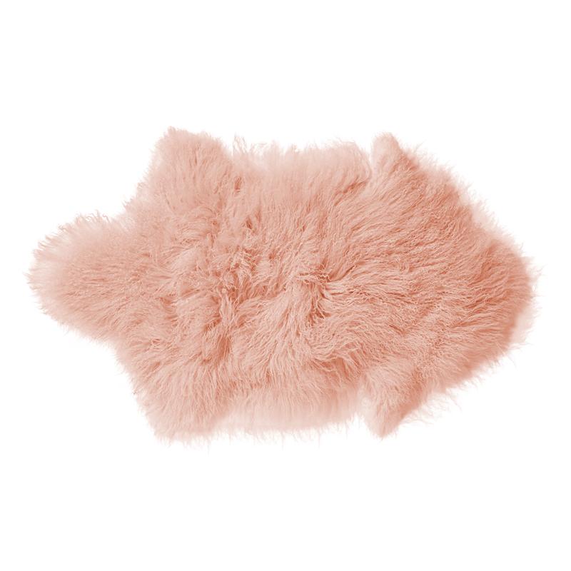 peau d 39 agneau de mongolie rose poudr bloomingville pour chambre enfant les enfants du design. Black Bedroom Furniture Sets. Home Design Ideas