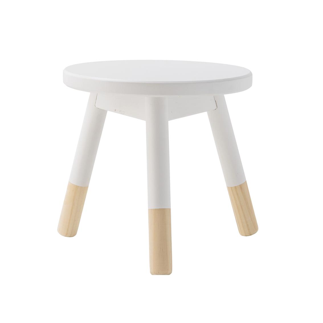 tabouret enfant blanc bloomingville pour chambre enfant. Black Bedroom Furniture Sets. Home Design Ideas