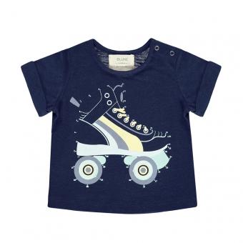 T-shirt Dessine-moi un Roller - Marine