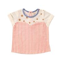 T-Shirt Imprimé Etoiles et Rayures - Rose