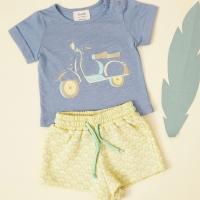 T-shirt Imprimé Vespa - Bleu gris