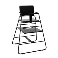 Chaise haute TOWERchair - Noir/Cuir noir