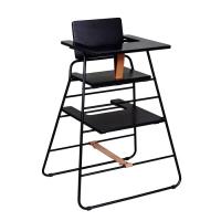 chaise haute towerchair gris cuir naturel budtzbendix pour chambre enfant les enfants du design. Black Bedroom Furniture Sets. Home Design Ideas