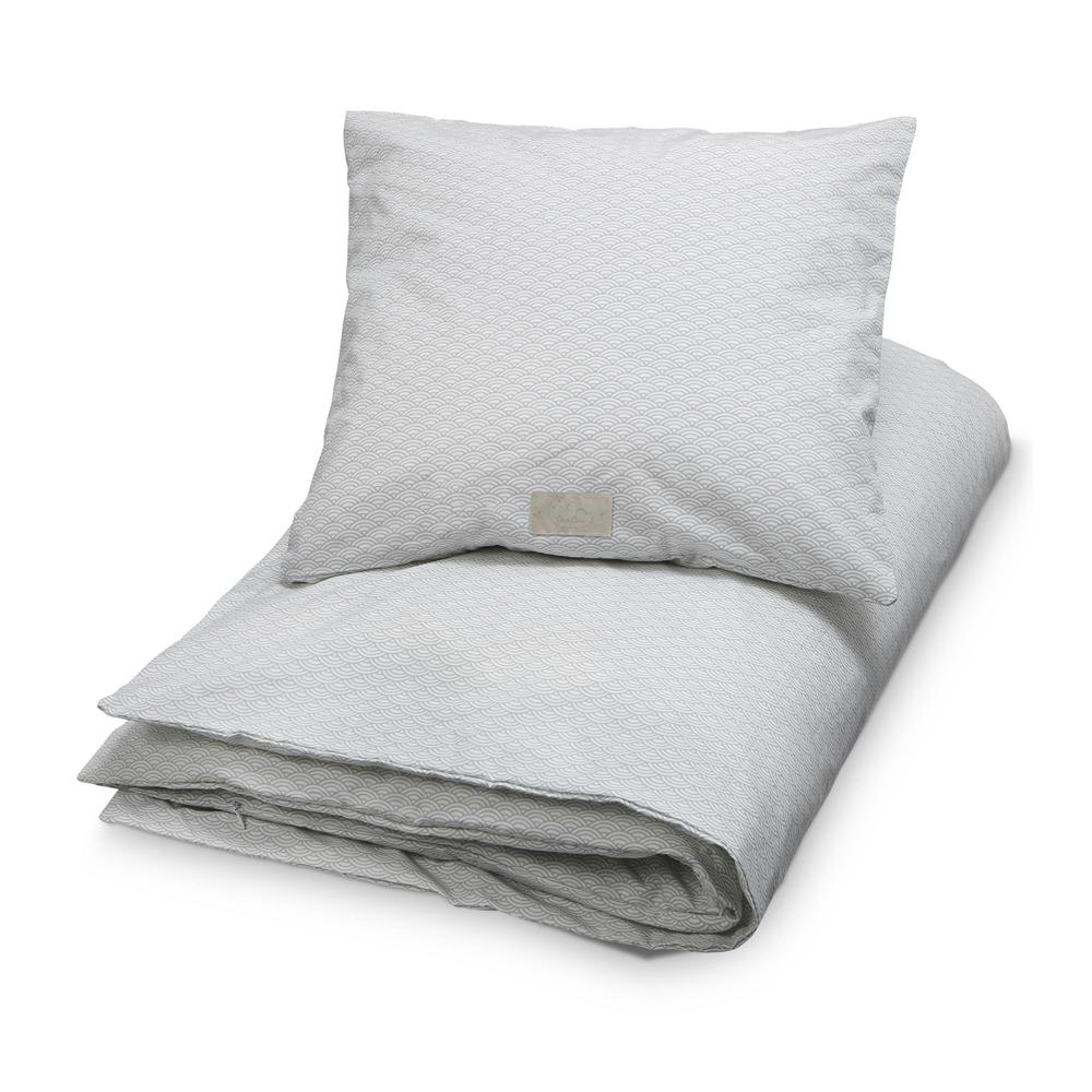 parure de lit vagues gris cam cam pour chambre enfant les enfants du design. Black Bedroom Furniture Sets. Home Design Ideas