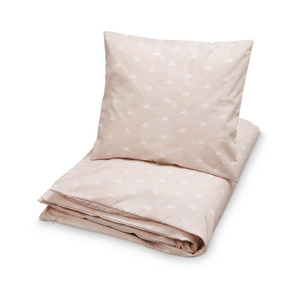 parure de lit cygnes rose poudr cam cam pour chambre enfant les enfants du design. Black Bedroom Furniture Sets. Home Design Ideas