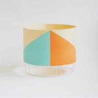 Grande lampe Dowood - bleu/orange