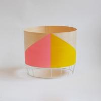 Grande lampe Dowood - rose/jaune