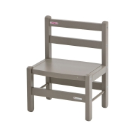 Chaise enfant Laqué gris clair