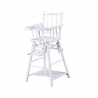 Chaise haute transformable Marcel Laqué Blanc