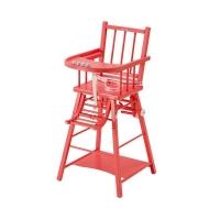 Chaise haute transformable Marcel Laqué Bouton de rose