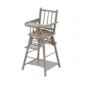 Chaise haute transformable Laqué Gris clair