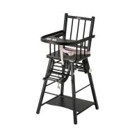 Chaise haute transformable Marcel Laqué Noir