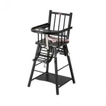 Chaise haute transformable Marcel - Laqué noir Combelle pour ...