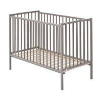 Lit bébé Rémi - Laqué gris clair