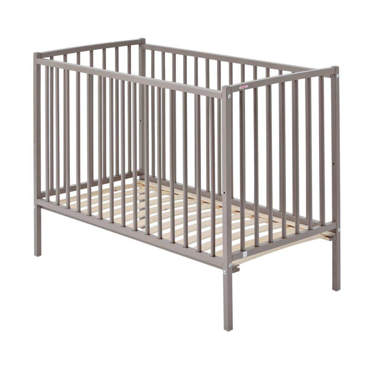 lit b b r mi laqu gris clair combelle pour chambre enfant les enfants du design. Black Bedroom Furniture Sets. Home Design Ideas