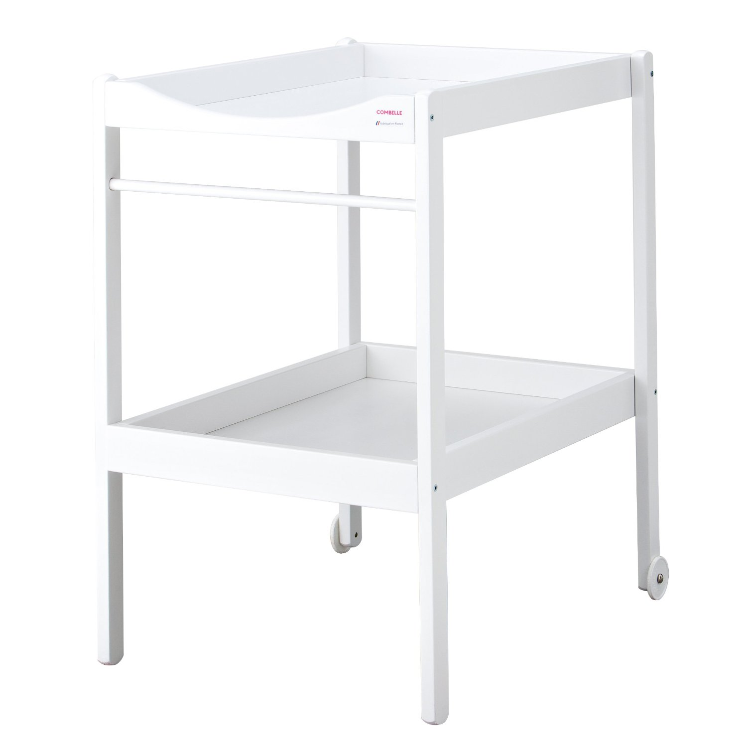 Table langer alice laqu blanc combelle pour chambre for Table a langer rose