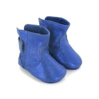 Chaussons Boubotte Cuir irisé - Bleu