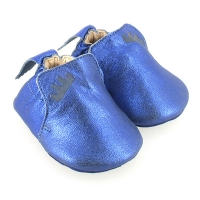 Chaussons Blublu Cuir irisé - Bleu