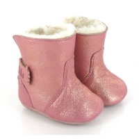 Chaussons Chobotte Cuir irisé - Rose