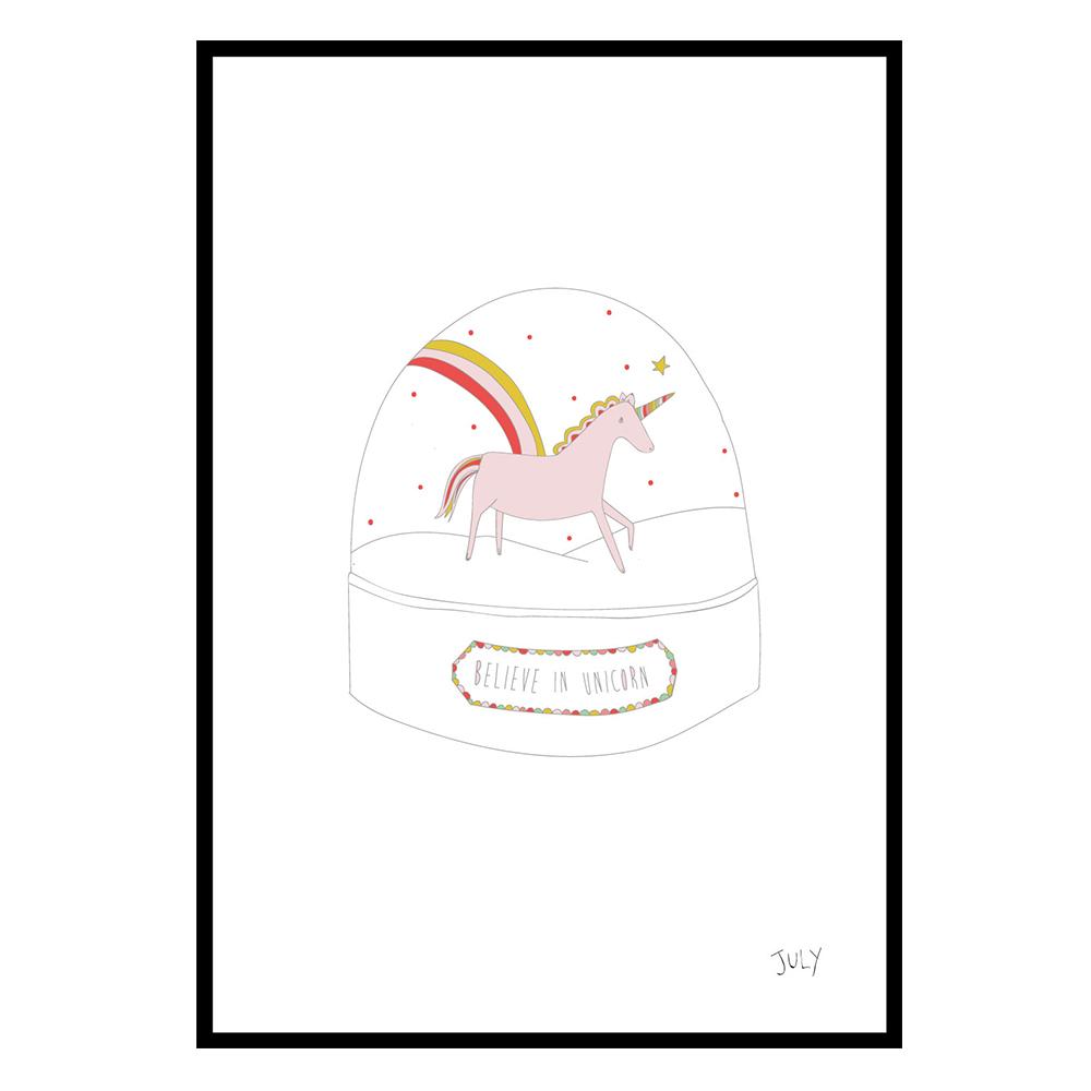 Affiche Licorne Fashion Your Wall Pour Chambre Enfant